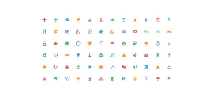 Maki Icons by Mapbox