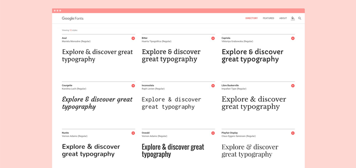 The All New Google Fonts Website