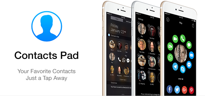 Contacts Pad — Your Favorite Contacts Just a Tap Away [Sponsor]