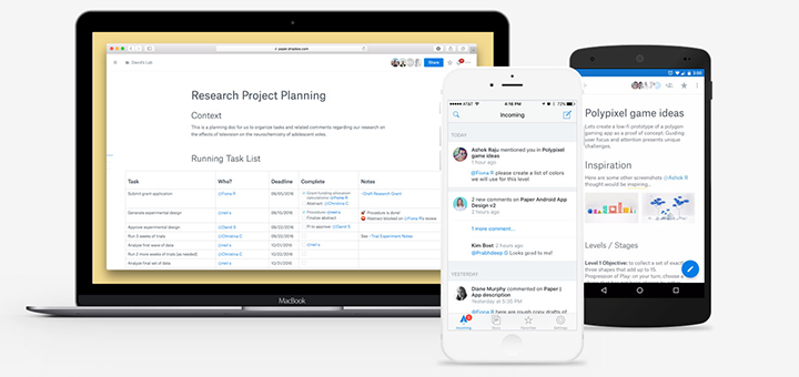 Dropbox Paper Comes to iOS & Android, Available as Public Beta