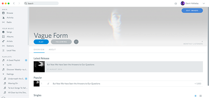 Spotio — An Rdio-inspired Skin for Spotify