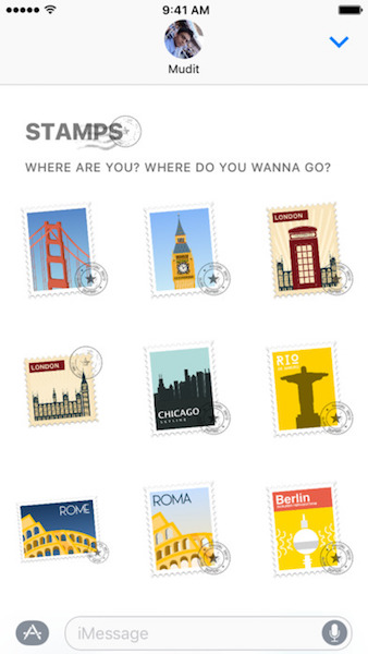 Places iMessage Sticker Pack