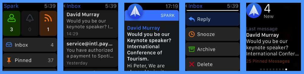 Spark Mail Watch App