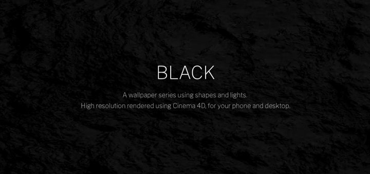 Black — A Dark Wallpaper Series using Shapes and Lights