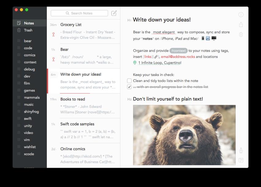 Bear Mac App