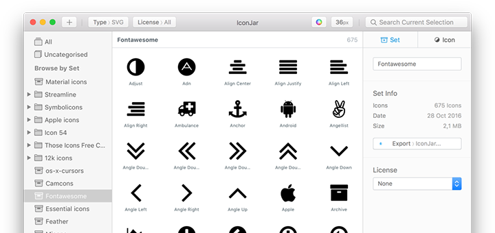 Iconjar — All Your Icons in One Place