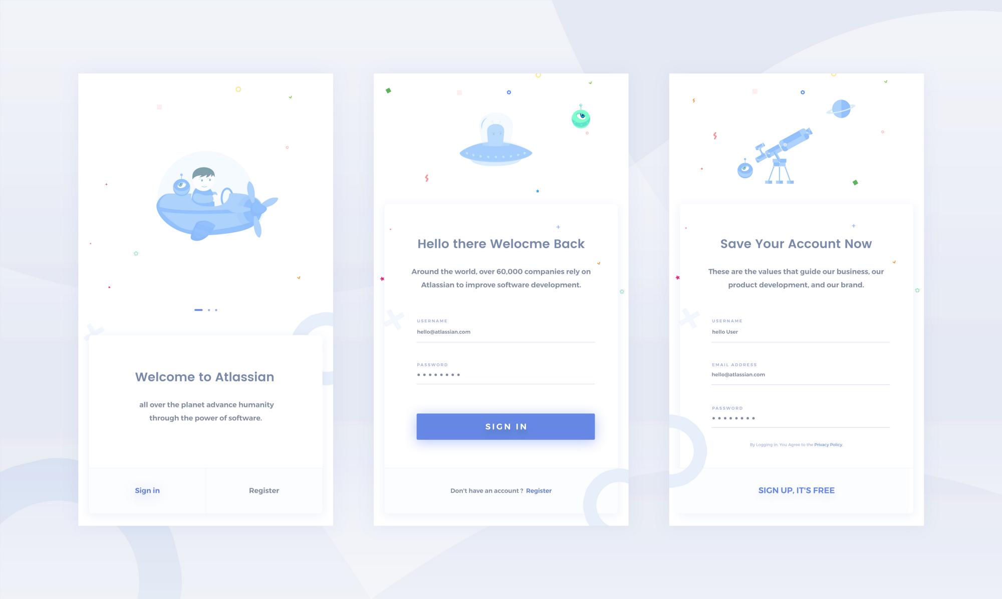 Atlassian Login Page by Anwar Hossain