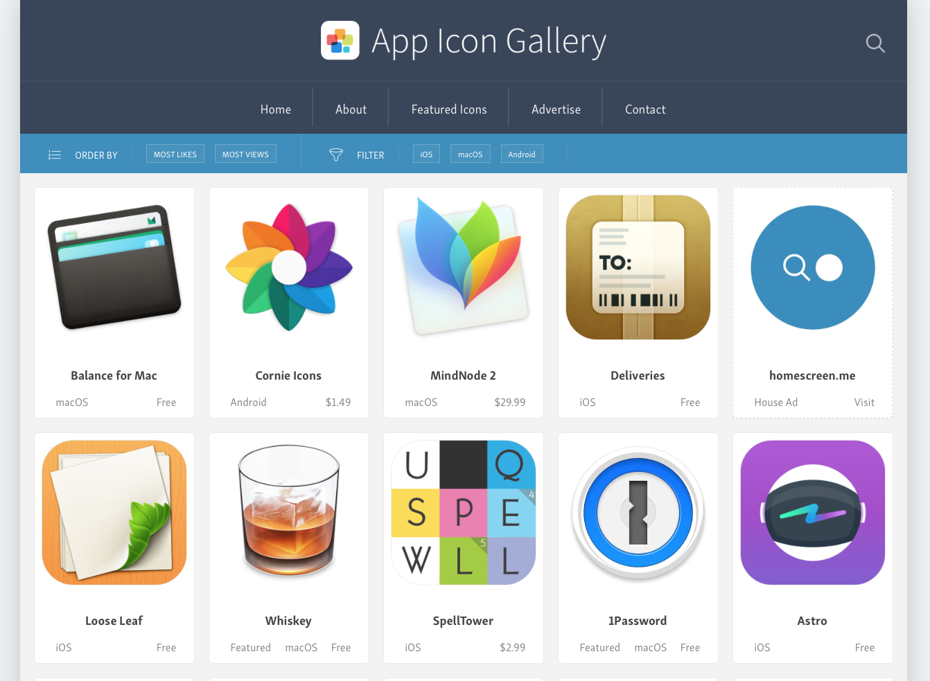 App Icon Gallery Screenshot