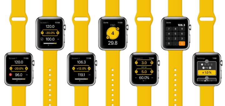 Percent Mate Wearable is a Percentage Calculator for Apple Watch