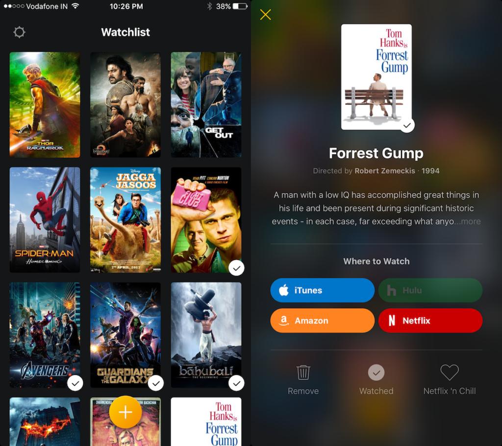 Watchlist for iOS
