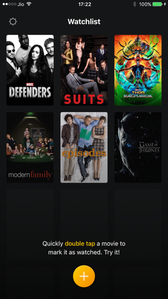 Watchlist for iOS Adds TV Shows