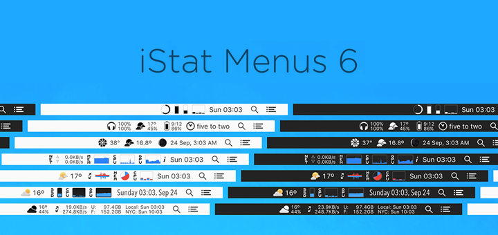 iStat Menus 6 — An Incredible System Monitor for Mac
