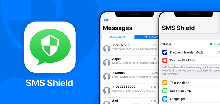 SMS Shield — SMS Spam Filtering App for iPhone and iPad
