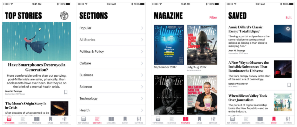 The Atlantic App for iPhone and iPad