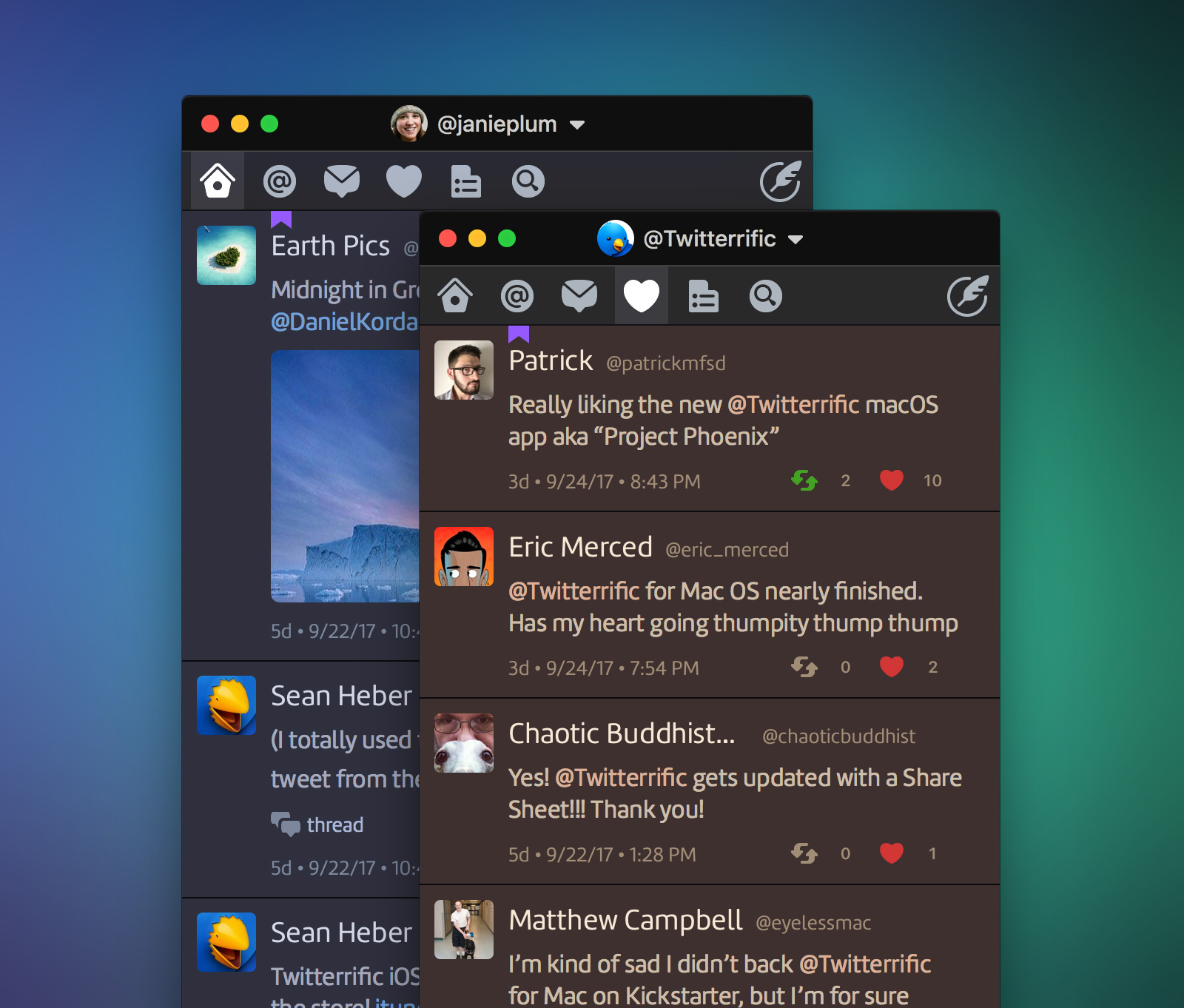 The Iconfactory Releases Twitterrific 5 for Mac (Project