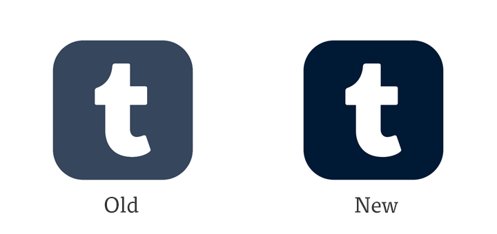 At a Glance: New App Icon for Tumblr