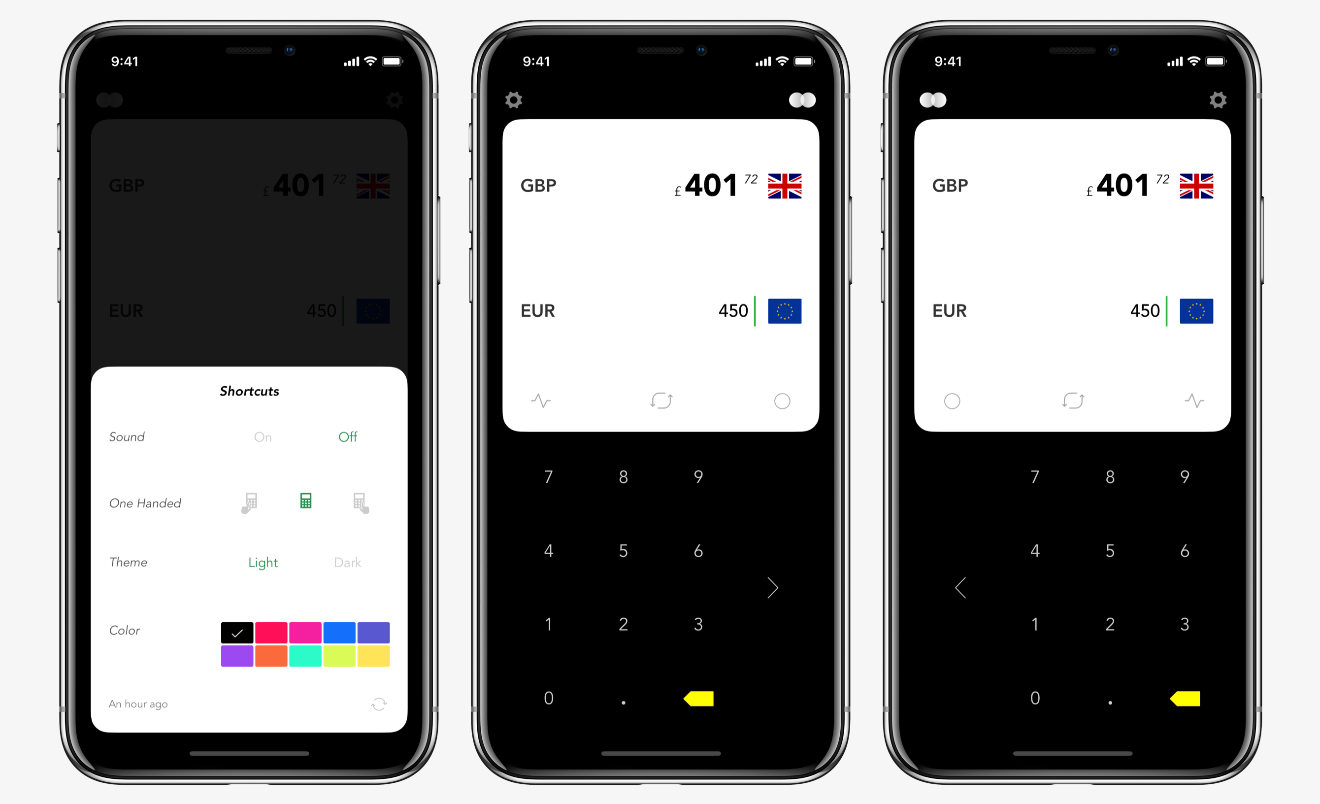 Koins A Currency Converter Designed For One Handed Use Beautiful Design