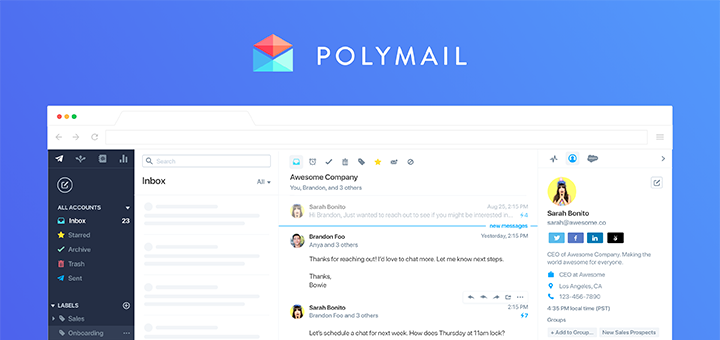 Polymail — the Email and Sales Productivity Platform Comes to the Web