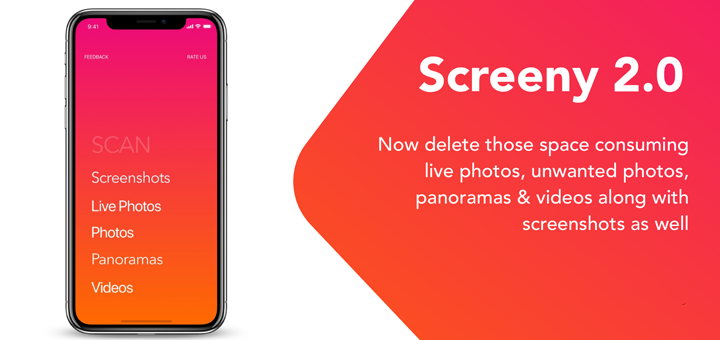 Screeny 2.0 for iOS - Delete Unwanted Media from your Camera Roll