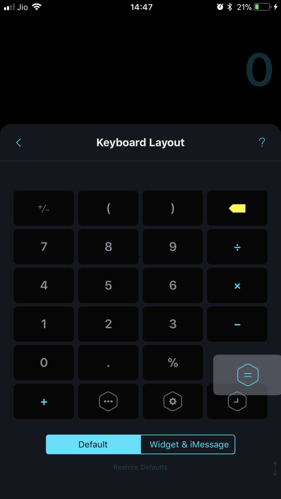 Calzy 3's Customizable Keyboard Layout