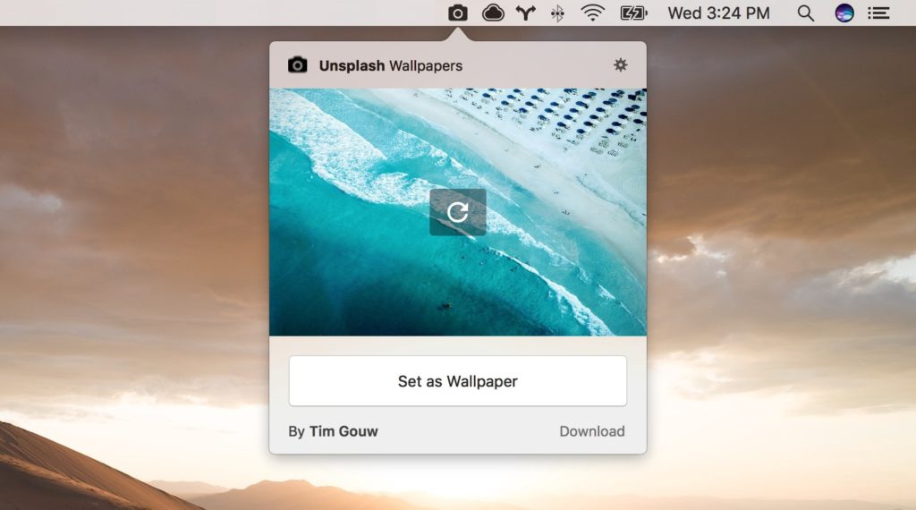 Unsplash Wallpapers Official App for Mac