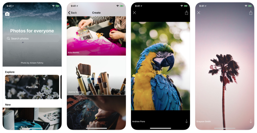 Unsplash App for iPhone and iPad
