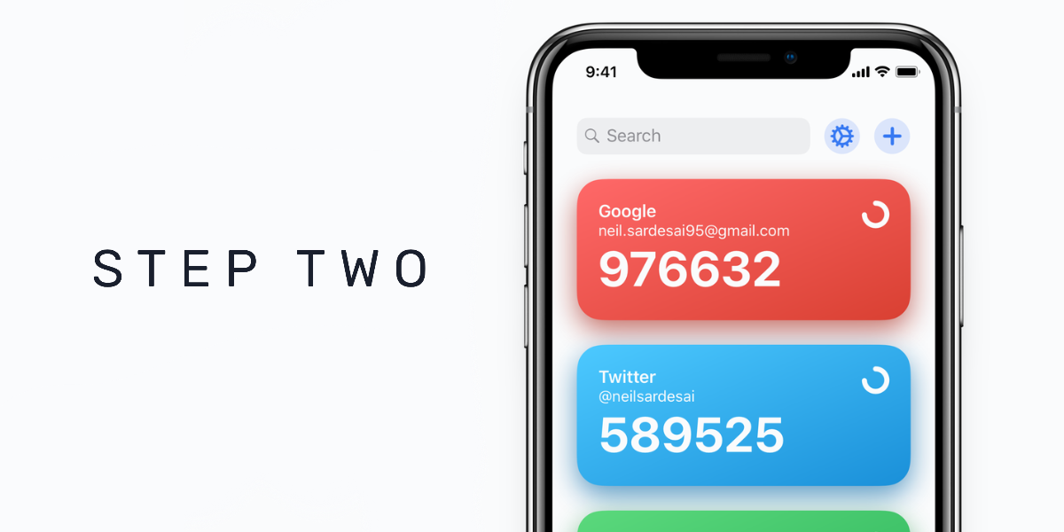 Step Two Is a Gorgeous and Modern Two Step Authentication App [2FA App]