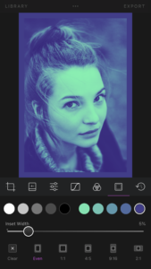 Darkroom Frame Tool Demo on iPhone