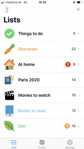 Pocket Lists 2 Screenshot