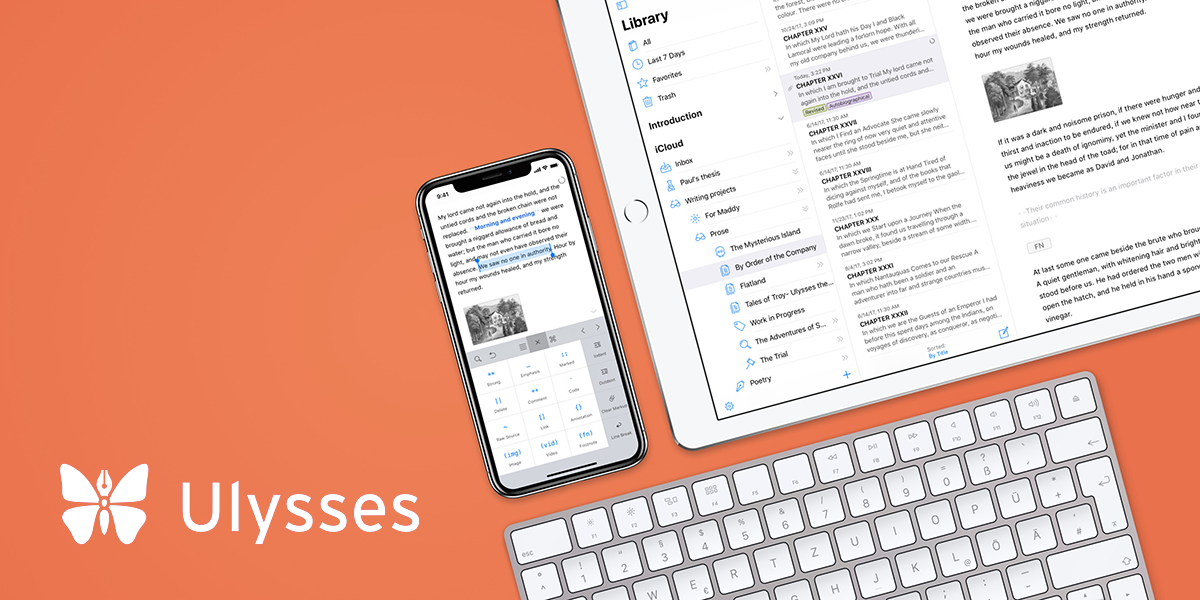 Ulysses 15 Introduces Split View Editor, Improved Image Support, Keyword Management, and More