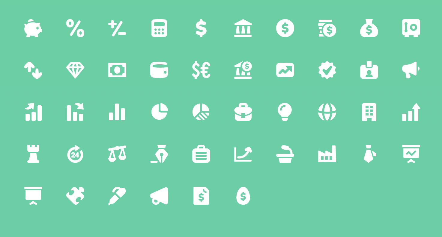 Pixi Icons for Finance and Business