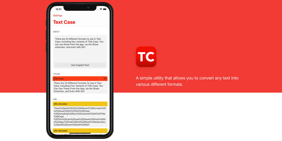 Text Case — A Simple Utility App to Convert Text Into Different Formats