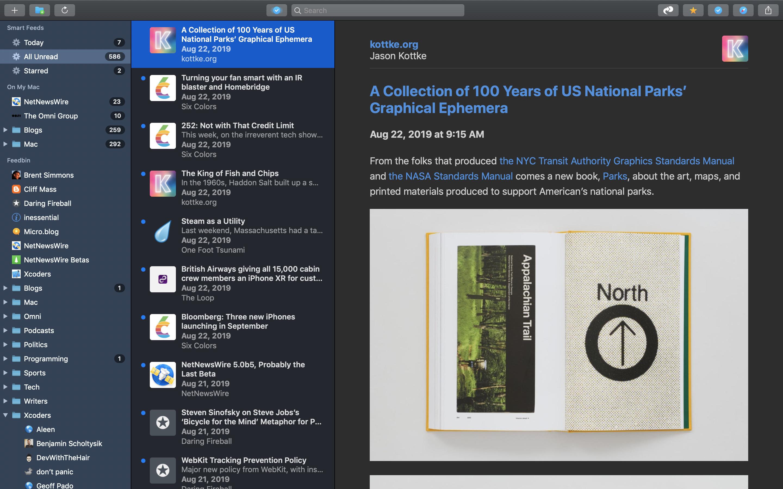 NetNewsWire RSS Reader for Mac