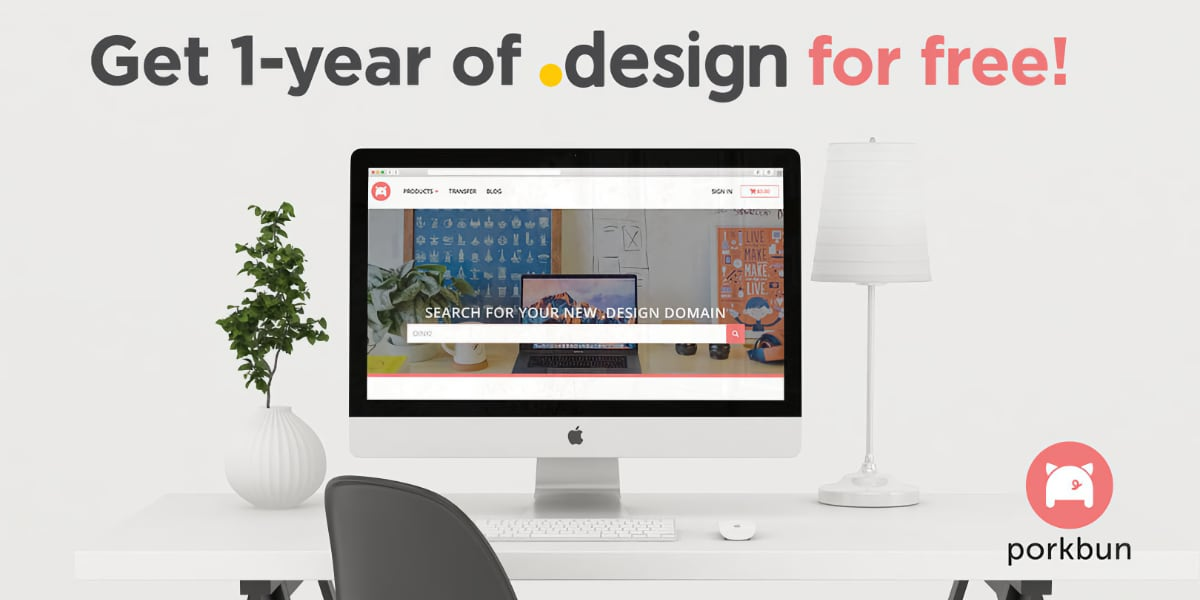 Grab a FREE .design Domain to Showcase Your Designs